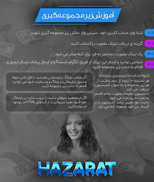 زیر مجموعه گیری در سایت حضرات بت «HAZARAT» پویان مختاری