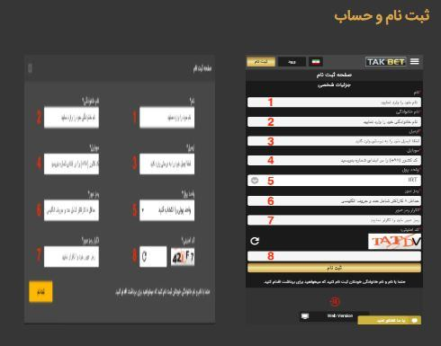 معرفی سایت تک بت TAKBET یکی از بهترین سایت های شرط بندی فوتبال