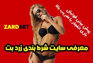 سایت شرط بندی زرد بت ZARD BET با مدیریت وب سایت زرد نیوز