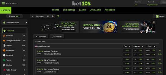 سایت بت 105 سایت شرط بندی خارجی معتبر Bet105