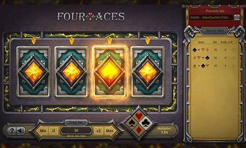 نحوه بازی چهار آس در سایت شرط بندی